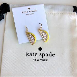 Brand New Kate Spade Enamel Lemon Earring